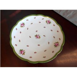 Rose Pattern Dinner Plate, Marked & Numbered
