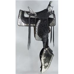Sterling Silver Parade Saddle attributed to Bohlin