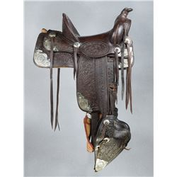 F.M. Stern Saddle with Silver Corner Plates