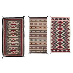 Three Decorative Navajo Weavings