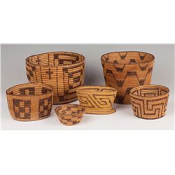 Six Papago Baskets