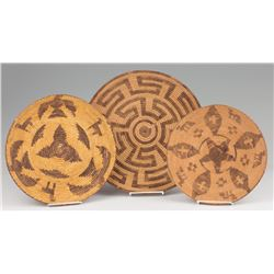 Three Pima Basketry Trays