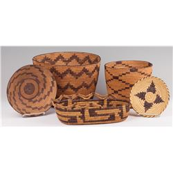 Five Papago Baskets