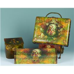 Four piece Indian Pictorial celluloid photo album