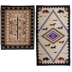 Two Mexican Weavings - Navajo Style Rugs
