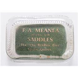 F. A. Meanea Advertising Paperweight