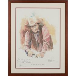 James Arness to Harry Carey Jr. Signed Print