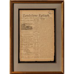 Tombstone Newspaper Pages 1880