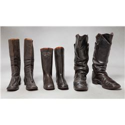 Three pairs of Military Style Boots