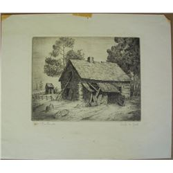 Orlo M. Gill, Etching