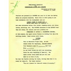 Original Preliminary Narration for Tomorrowland Rocket Ship Theatre