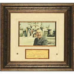 Walt Disney Signed Check
