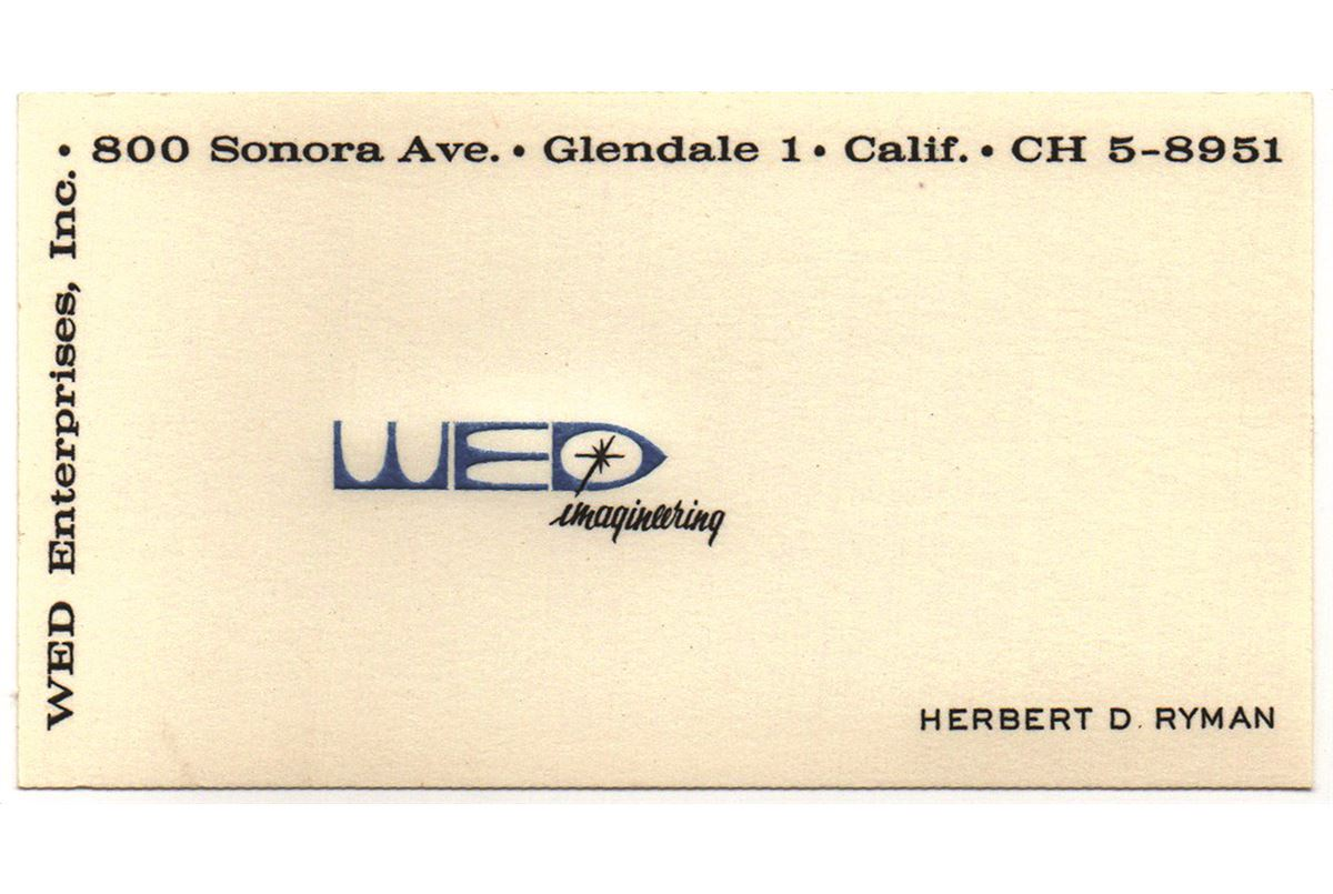 Herbet ryman personal disney wed imagineering business card image 1 herbet ryman personal disney wed imagineering business card colourmoves