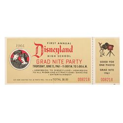 1st Annual Disneyland grad night party ticket stub.
