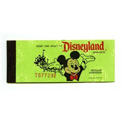 Unused Disneyland Ticket Book