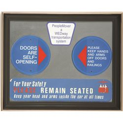 Original Peoplemover Door Plaques and Safety Stickers