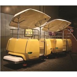 Original PeopleMover ride vehicles from the Kevin Doherty Collection