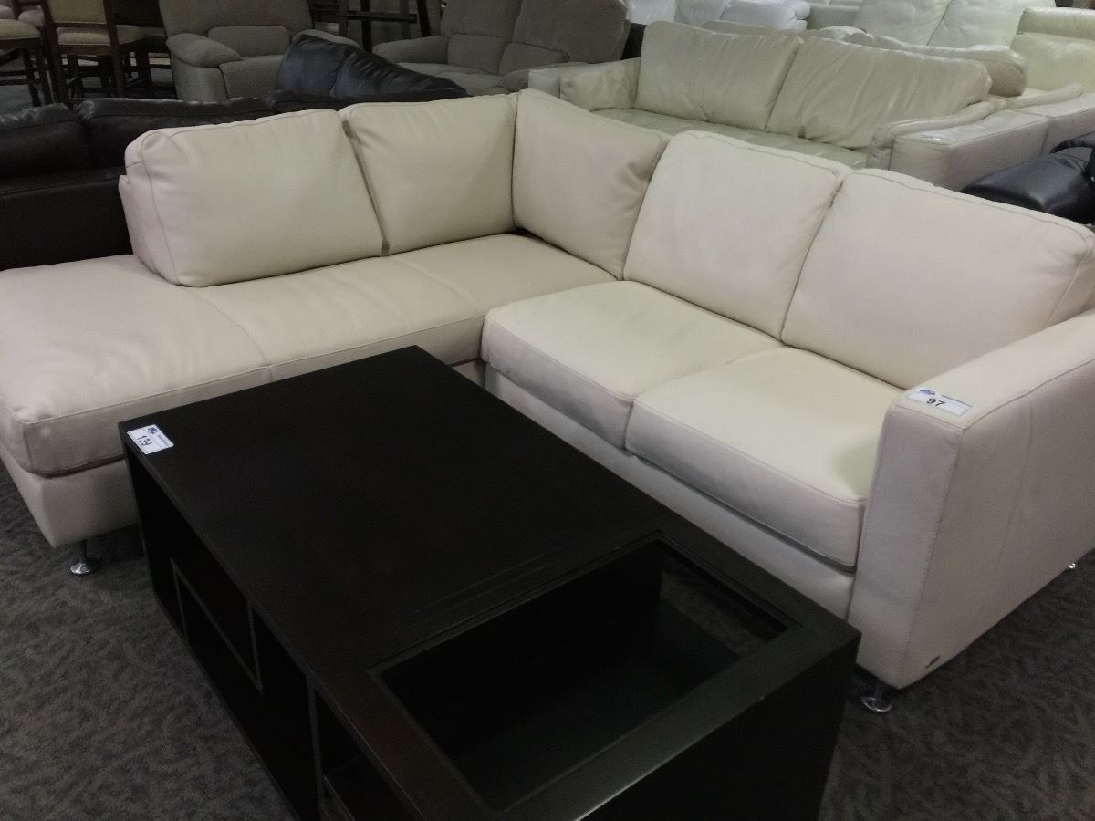 White Leather Sectional Sofa With Chaise Home Furniture