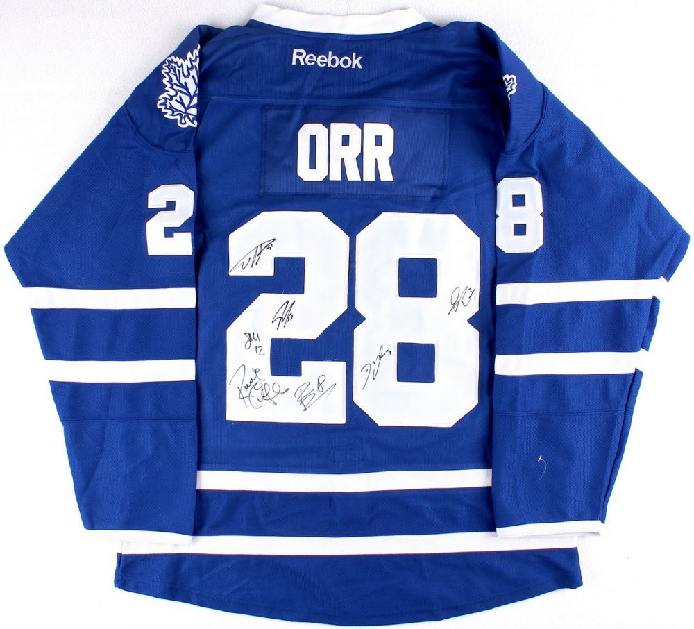 Image 1   Multi-Signed Colton Orr Maple Leafs Jersey With (7) Signatures ... f972add97b5