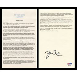 George W. Bush Signed 9/11 Ground Zero Speech (PSA LOA)
