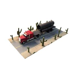 Men in Black Tractor Trailer Truck & Cactus