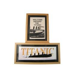 Titanic Framed Photos Movie Props
