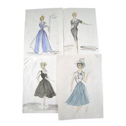 Edith Head Original Drawings from The Lucy Show