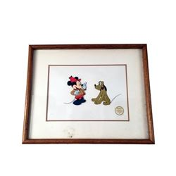 Mickey Mouse & Pluto Lithograph