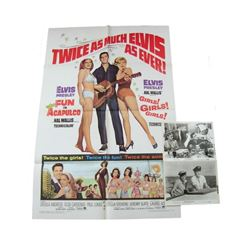 Fun In Acapulco/Girls, Girls Girls 1967 Re-Release Theatrical Poster And Stills