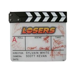 The Losers Cast Autographed Slate