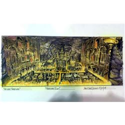 National Treasure Original Concept Painting of Treasure Room Final Design