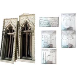 The League of Extraordinary Gentlemen Byzantine Window Castings (8) Small & (2) Large Upper Sections