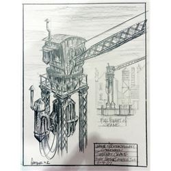 The League of Extraordinary Gentlemen Original Concept Drawing of Crane