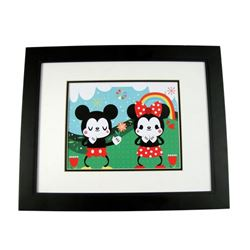 Mickey Mouse and Minnie Mouse Print