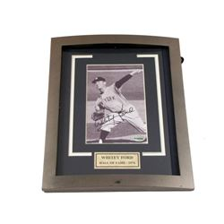 Whitey Ford Framed Autographed Photo