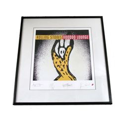 The Rolling Stones Limited Edition Autographed Framed Poster