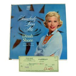 Dinah Shore Album and Signed Check