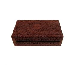 Pirates Of The Caribbean Sao Feng's Lair Carved Wood Box Movie Props