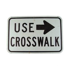 Pulp Fiction Metal Crosswalk Sign Movie Props