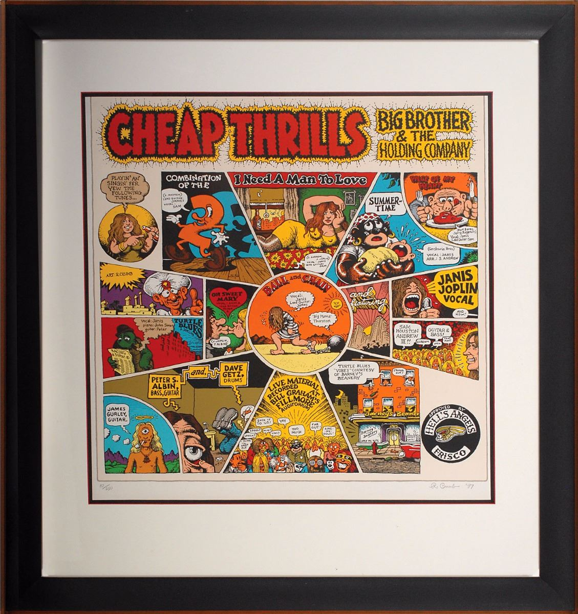 Robert Crumb Signed Lithograph: Big Brother and the Holding Company