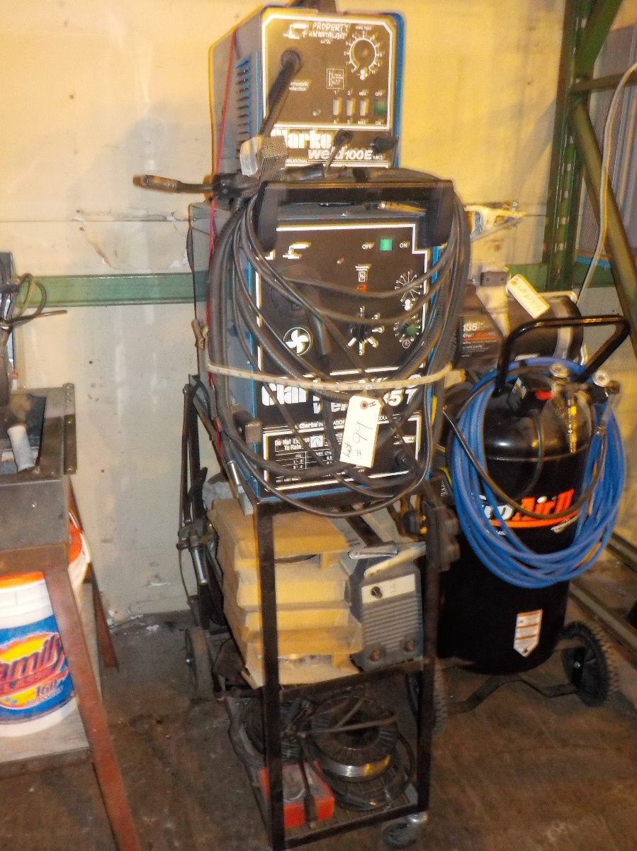 Image 1 : CLARKE-TURBO WELDING STATION MIG 100E, TIG SX131 AND STAND