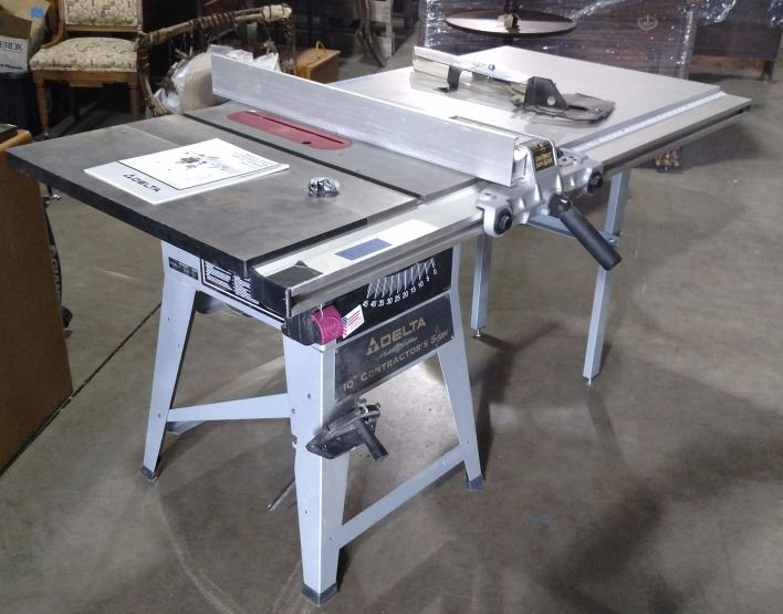 Delta Model 10 Contractor Table Saw Table Design Ideas