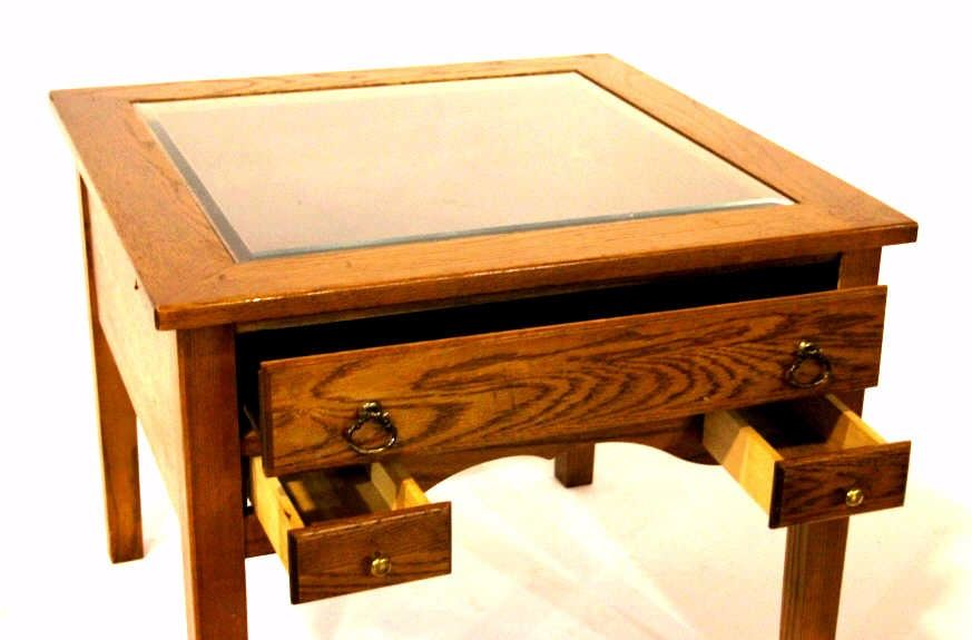 Charmant ... Image 2 : Wooden End Table Display Case ...