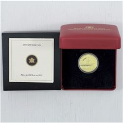 2011 Canada $200 22-Karat Gold Coin - S.S. Beaver. This coin weighs 16 grams and contains 91.67 % Pu
