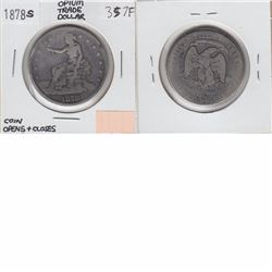 1878S USA Opium Trade Dollar. This coin is hollowed out, as it was used as a locket, snuff box, or O
