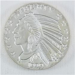 Golden State Mint 5 Troy oz  .999  Fine Indian Head Silver Round. (Tax Exempt)