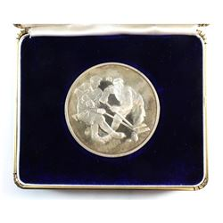 1972 Canada vs. USSR Series Sterling Silver Medal with original Wellings Mint Display Box