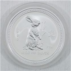 1999 10oz Australia Year of the Rabbit .999 Fine Silver Coin (TAX Exempt)