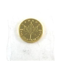 Canada 2013 $20 1/2oz .9999 Fine Gold Maple Leaf (tax Exempt)