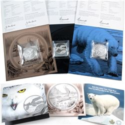 Estate Lot of 3x RCM Issued $50 for $50 Fine Silver coin. You will receive a 2014 Polar Bear $50, a